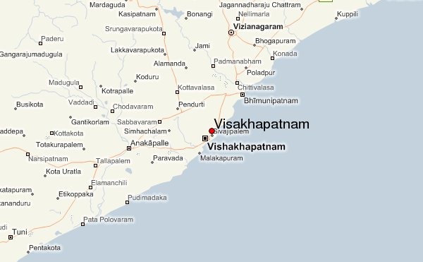 map of Vizag